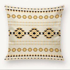 bohemian  geometric pattern throw pillow cover